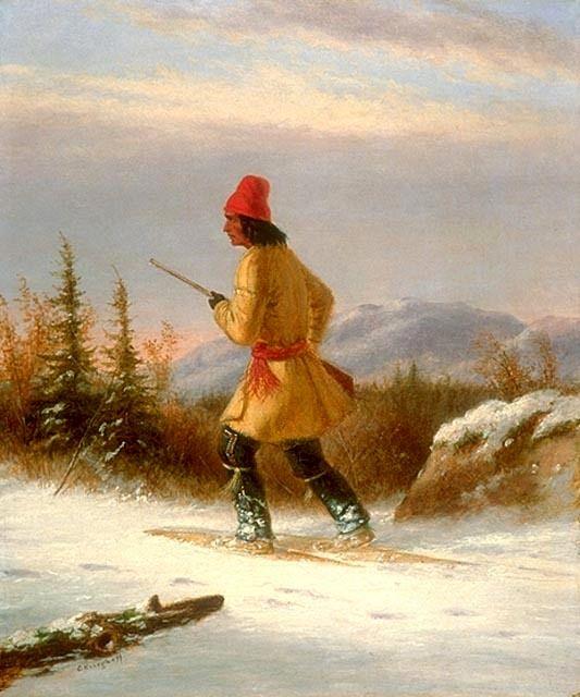 Cacciatore Indiano con Racchette da Neve VII.