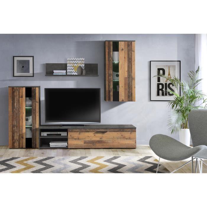 Arantus Ensemble Meuble Tv 213 X 184 X 41 3 Cm Ensemble Meuble Tv Ensemble Meuble Salon Idee Deco Chambre Moderne