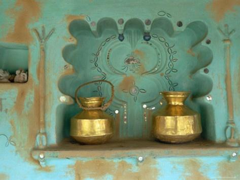 Architectural Detail, Tonk Region, Rajasthan, India Photographic Print