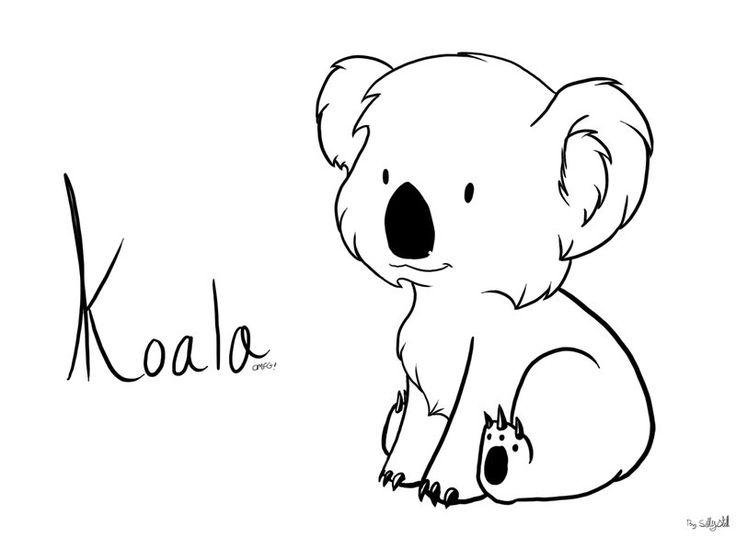 Line Drawing Koala : Koala bear outline pixshark images galleries