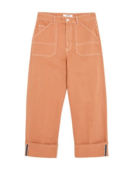 9c2b53c036 Orange carpenter jeans - pull&bear | Sixth Form in 2019 | Pull & bear,  Bermuda Shorts, Jeans