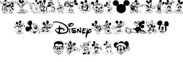 Mickey Mousebats font by Chris Pirillo - FontSpace