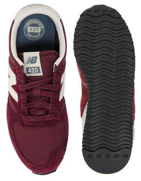 Image 3 - New Balance - 420 - Baskets en daim - Bordeaux