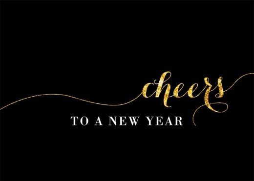 Cheers New Year Card - New Years from Brookhollow