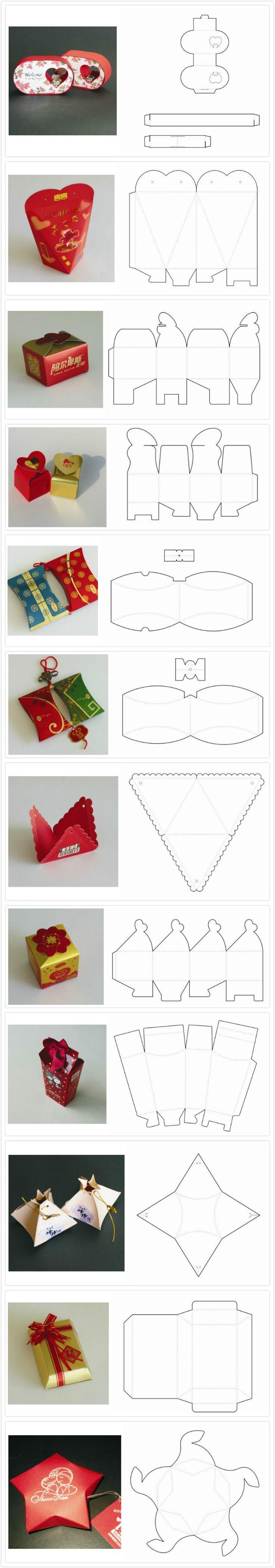 Scatoline di cartoncino, portaconfetti o scatoline regalo - Modelli | Questo Lo Riciclo, Ti Piace L'Idea? - Via al Riciclo Creativo!