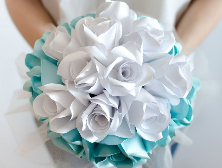 Product ID: BC0029We custom make beautiful turquoise bridal bouquets.Paper flower bouquets are very suitable for religious or civil ceremony. Keep forever the memory of the most beautiful moment of your life!All our products are handmade.This bouquet can be done in medium or large size.For prices please send me an email with the product ID at hello@thediywedding.comImpress! Be unique! Be creative!We believe we can help you have the most amazing wedding! Call us!
