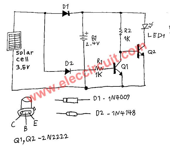 Simple Automatic Solar Night Light Circuit From Water