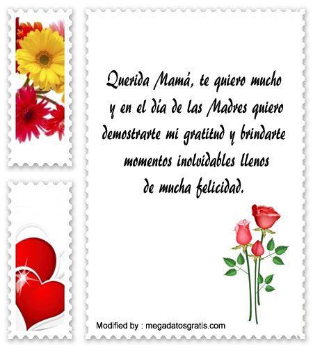 palabras para el dia de la Madre,saludos para el dia de la Madre,sms para el dia de la Madre: http://www.megadatosgratis.com/lindos-mensajes-por-el-dia-de-la-madre/