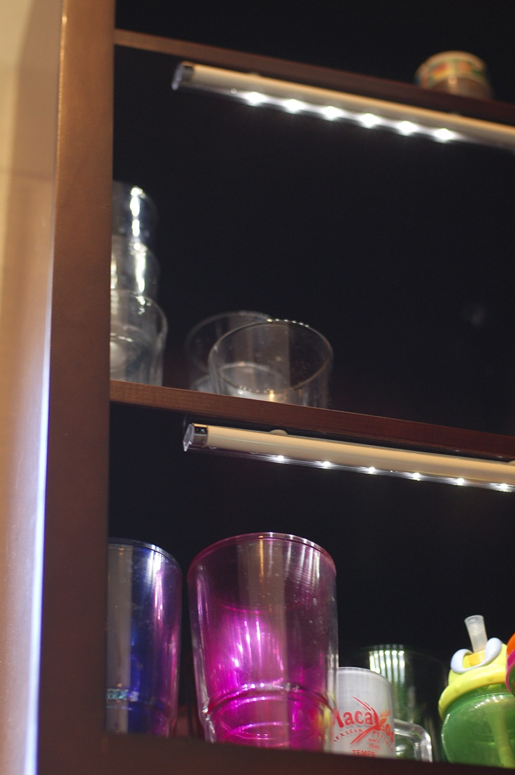 Battery Powered Drawer Lights Work Beautifully In Dark Kitchen Cabinets Too