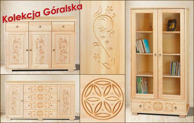 Kolekcja Góralska - meble sosnowe. Producent Made of Wood Group.