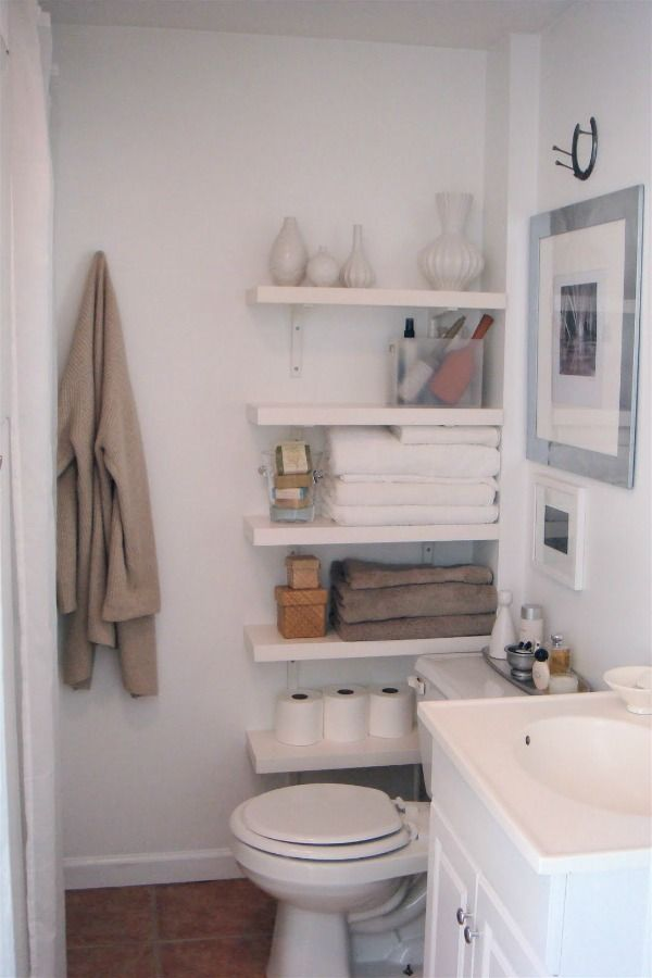 Best 25 small space bathroom ideas on pinterest small Storage solutions for tiny bathrooms