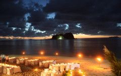 Vomo Island Resort Fiji #destinationwedding reception. #beachwedding #fijiwedding