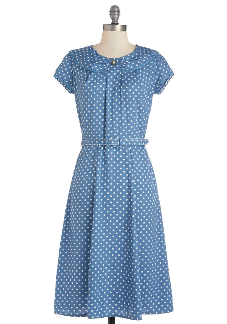 Lively Laughter Dress. Youre sure to bring joy wherever you go - both with your peppy personality and this fun belted dress! #blue #modcloth