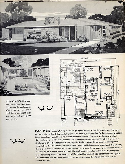 95 Best Images About Retro House Plans On Pinterest