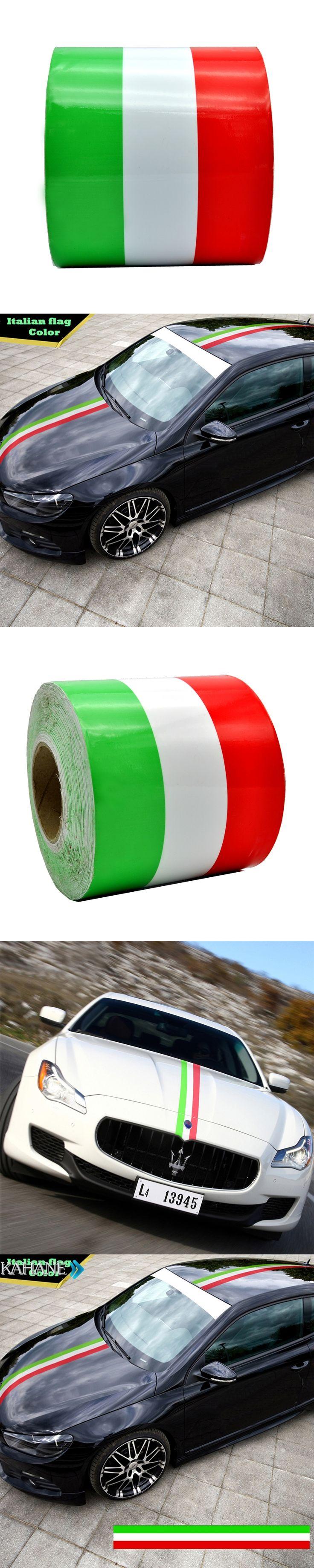 Italy Flag Stripe Car Body Hood Vinyl Sticker Decal Styling for Audi A3 A4 A6 B5 B6 B7 B8 C5 C6 C7 Q7 TT 80 Q5 8P