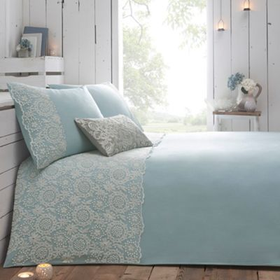 RJR.John Rocha Blue 'Aurora' bed linen- at Debenhams.com
