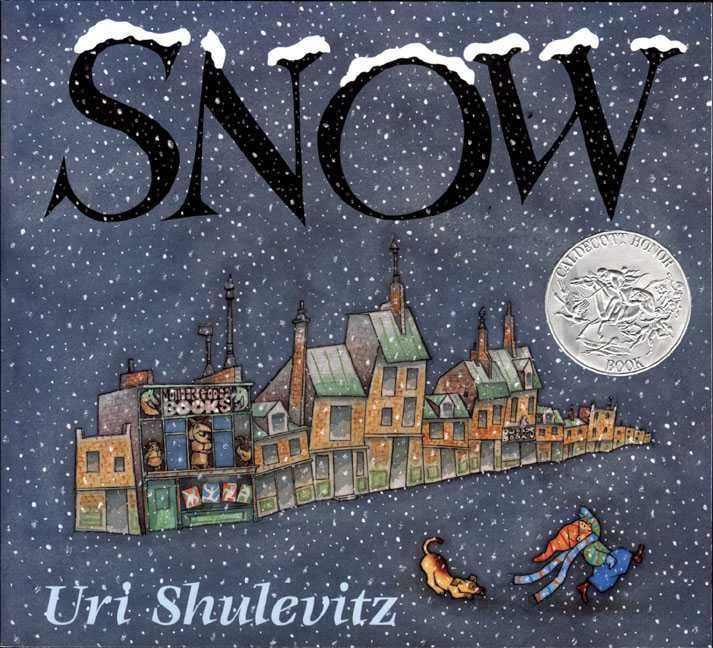 As snowflakes slowly come down, one by one, people in the city ignore them, and only a boy and his dog think that the snowfall will amount to anything.