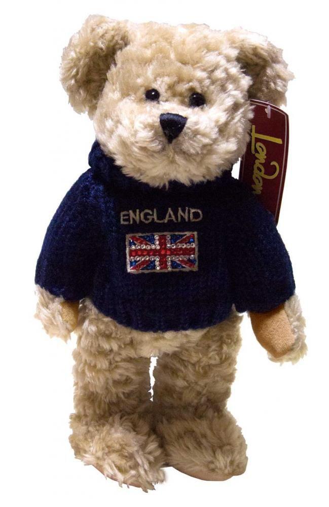 【elgate England Teddybear】イングランド テディ・ベア スワロフスキー ユニオンジャックセーター