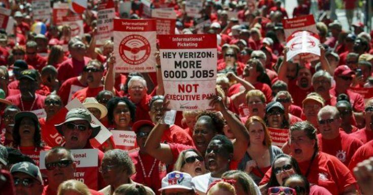 Η απεργία στη Verizon και η μαχητικότητα του αμερικανικού εργατικού κινήματος