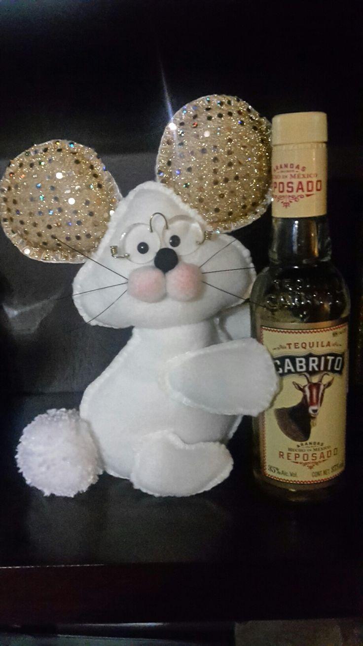 Ratón navideño! Muñeco hecho a mano.