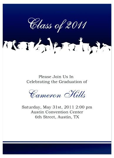 College Graduation Invitations 3915 In Addition to Funny High