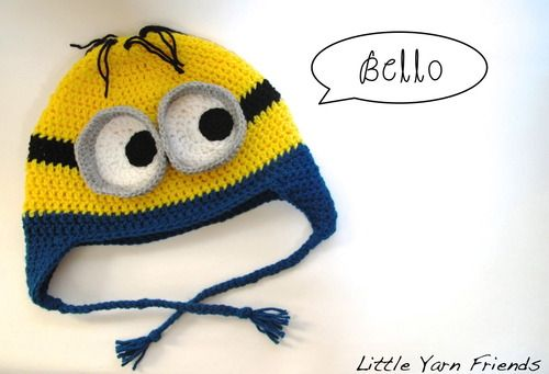 Crochet Pattern: Minion Beanie