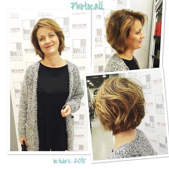 Marga Flores con un look muy actual y sumamente favorecedor. Gracias Toni del salón de Gran de Gracia.  #blue01stylist #photocall #style #hair #pelo #coolhair #looks #instahair #hairstyle #instadaily #instagood #peluquerias #cabello #peluqueriabarcelona #