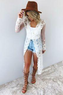 Modischer Damenschmuck: Damen Sommer Outfit, Sommer Casual Outfit
