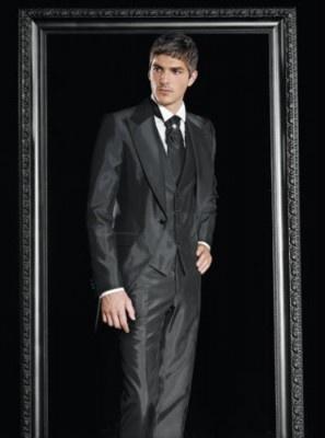 Vintage Black Wedding Men Suit On Sale