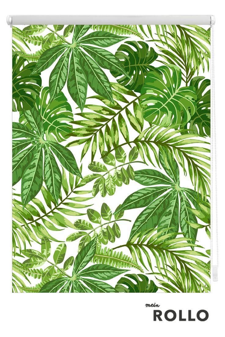 Mein Rollo - das Rollo zum Selbstgestalten. Palmen Muster - exotische Pflanzen: Holt Euch den neuen Deko-Trend in eure 4 Wände. Passende Motive dazu findest du auf meinrollo.de