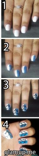 Tree designs are one of the most popular and easy to create designs for nail arts.  Try it !!!!! Love it!!!