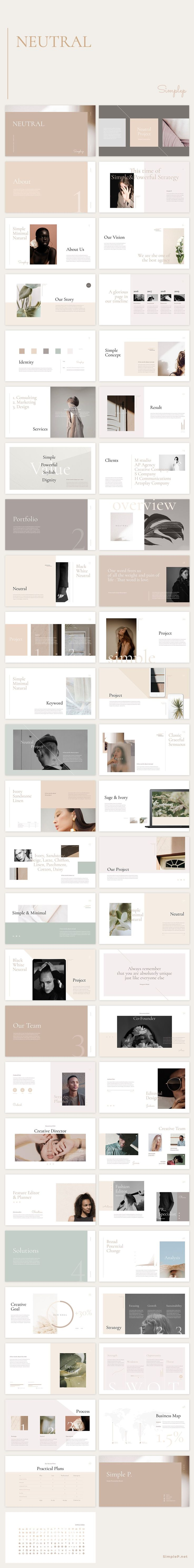 ✨This presentation 'Neutral' contains creative content slides with beaut...