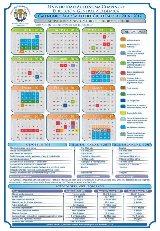 Calendario Académico.