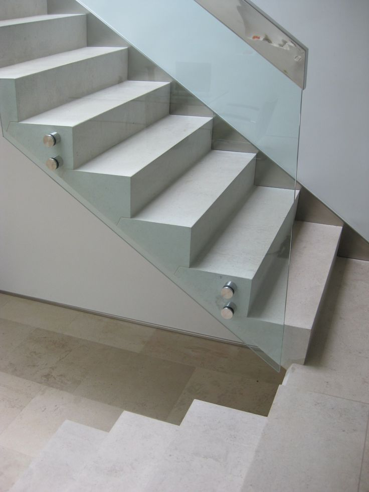 #HoptonWood #limestone cantilevered #staircase with glass balustrade