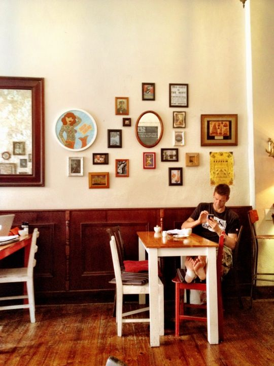 Intimate quirky setting, fabulous eggs.