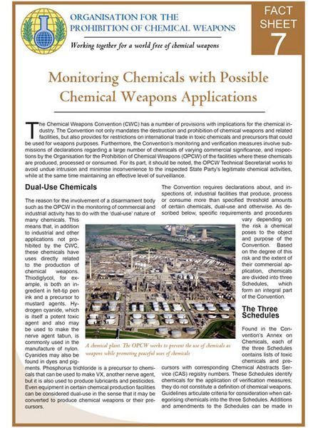 9 best OPCW Fact Sheets images on Pinterest Facts and Changu0027e 3 - free fact sheet