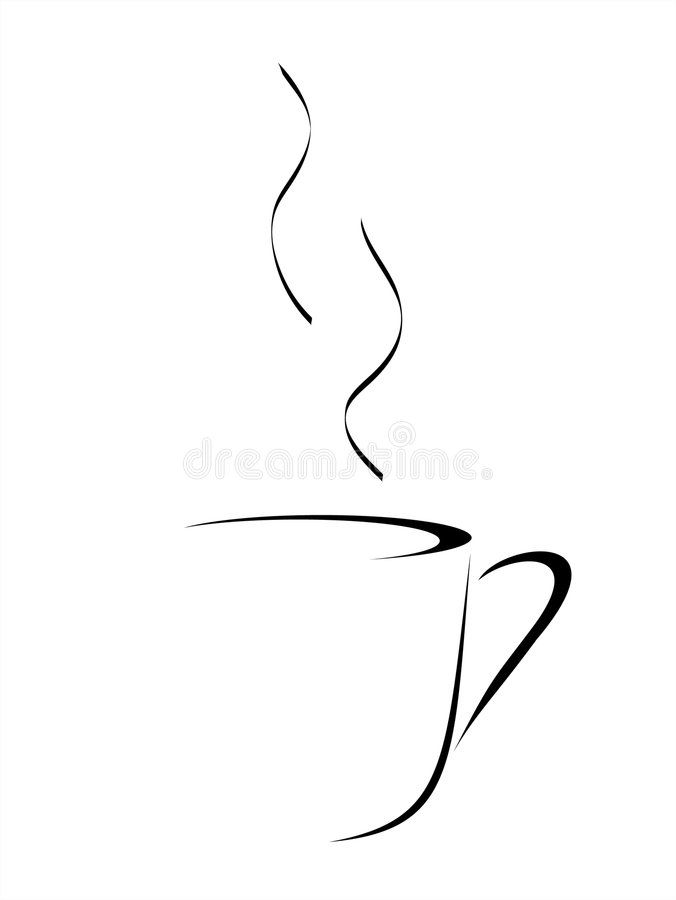 coffee abstract abstract vector drawing of a cup of coffee or tea with steam sponsored sponsored ad abst in 2020 coffee cup drawing coffee drawing tea design pinterest