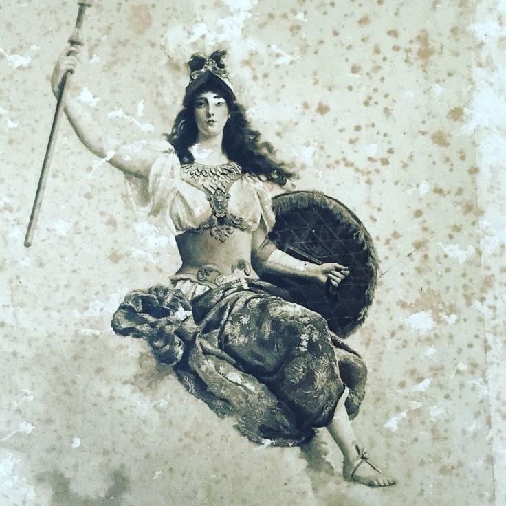 Vintage French print. Beautiful woman $45 plus postage X
