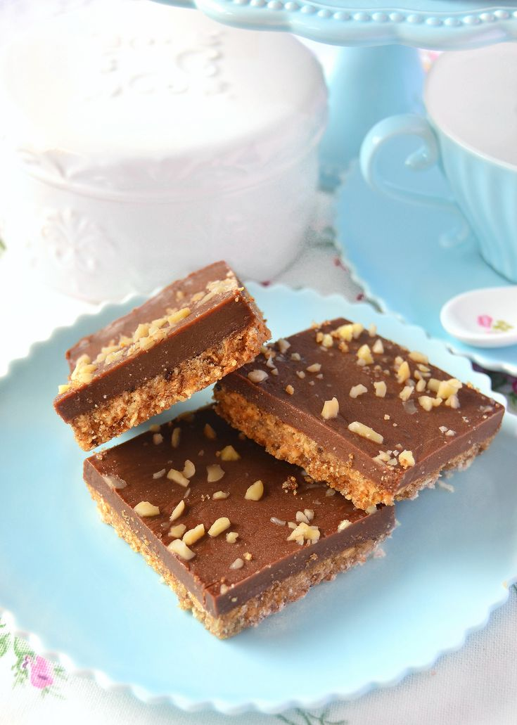 Dolci a go go: Quadrotti al burro di arachidi e cioccolato