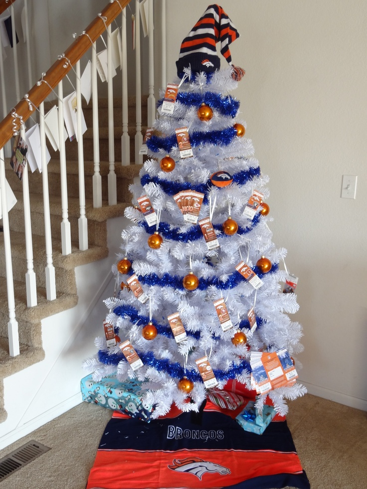 My Broncos Christmas tree ... I used old tickets stubs for ornaments!