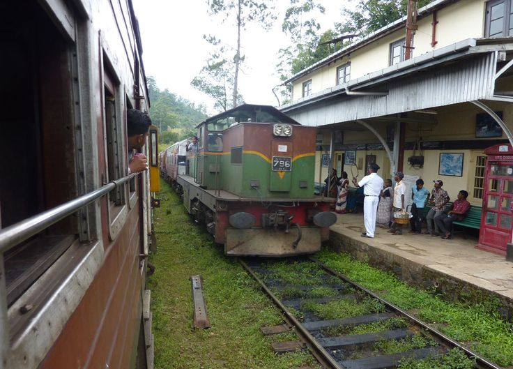 Sri Lankan Trains passing on route from Ella tea hills (Wellawaya) to Kandy in South Sri Lanka. Check our blog for full story of our South Sri Lanka Tour and Guide for Independent Travel in Southeast Asia. Here: http://live-less-ordinary.com/southeast-asia-travel/south-sri-lanka-tour-independent-travel