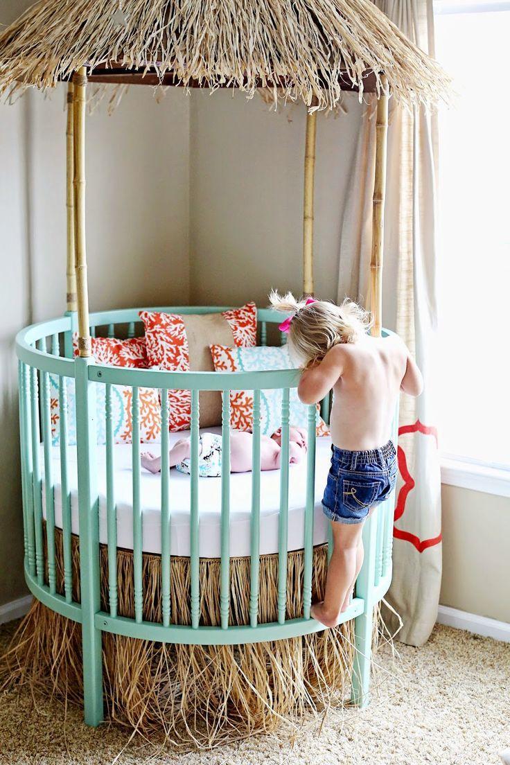 So Cute Tiki Hut Crib For Baby S Beach Themed Nursery Beachbaby Nurserydecor Ocean Baby Rooms Ocean Themed Nursery Girl Nursery Themes