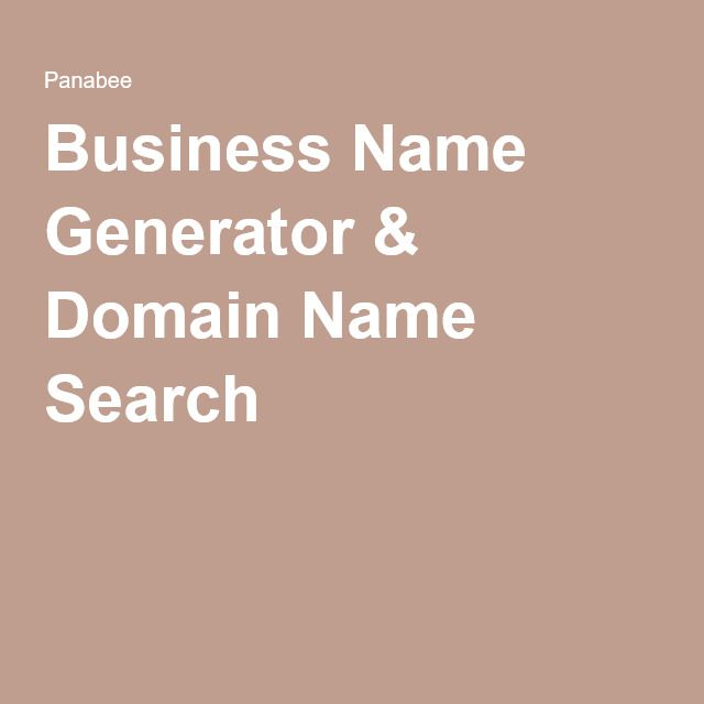 Business Name Generator Domain Search Also Good At Recommending Similars