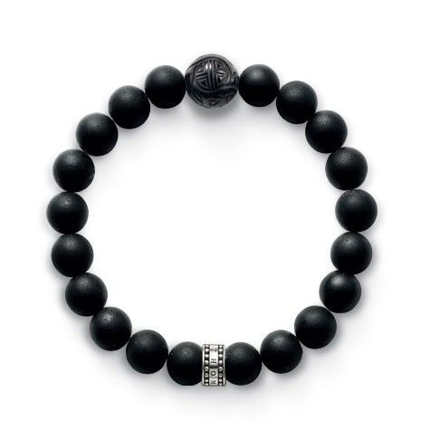 Thomas Sabo black obsidian matted. $114.