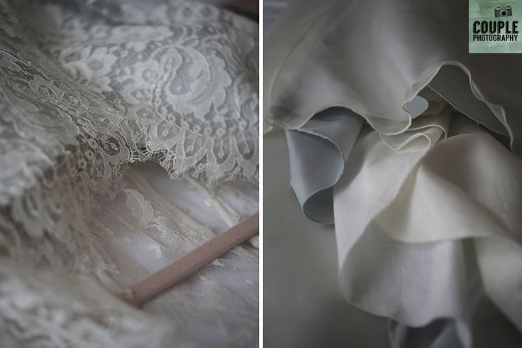 wedding dress details close up. Real Wedding by Couple Photography