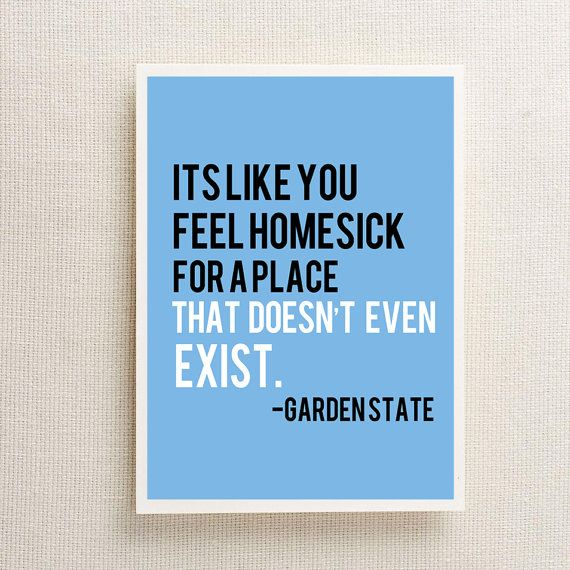 Movie Quotes Wall Art : Garden state movie quote wall art print by