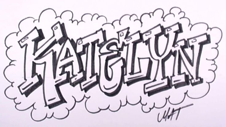 Printable Names in Graffiti maxi
