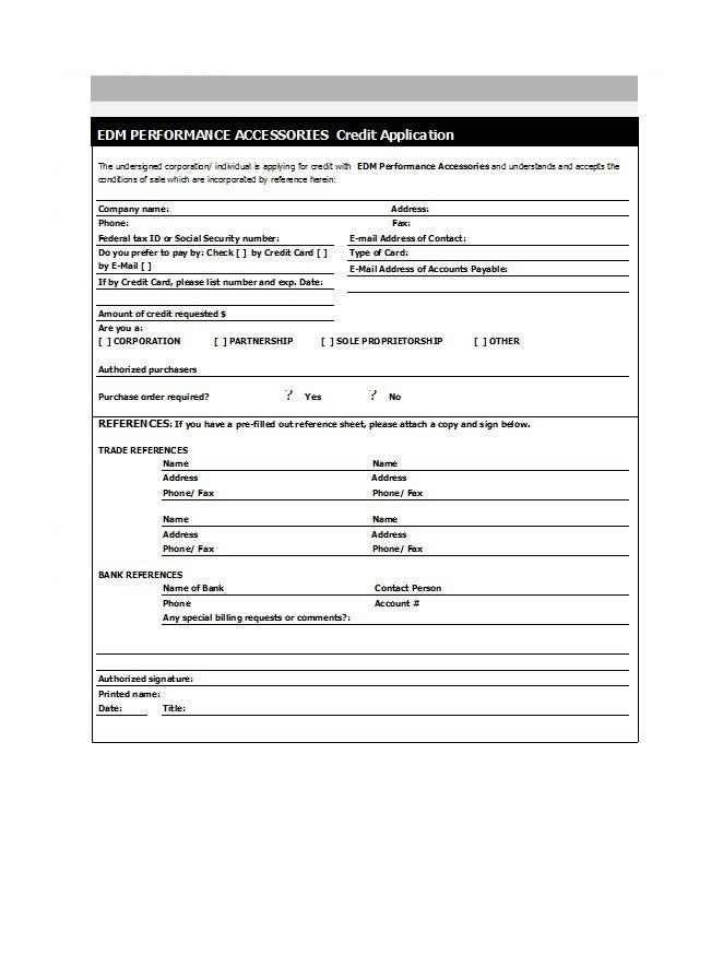 Credit Request Form 45 Free Credit Application Form Templates Samples Free Free Word Document Application Form Customer Satisfaction Survey Template