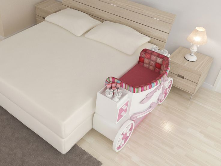mini berço acoplado na cama de casal