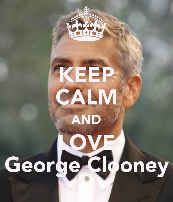 KEEP CALM AND LOVE George Clooney